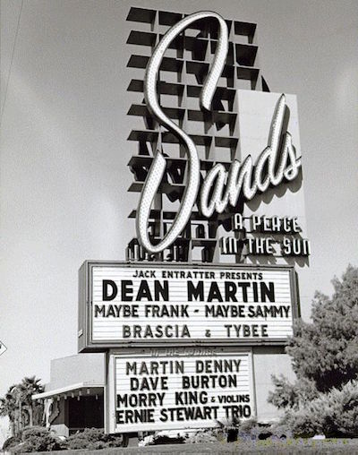 Sands Las Vegas Dean Martin Sammy Davis Junior and Frank Sinatra